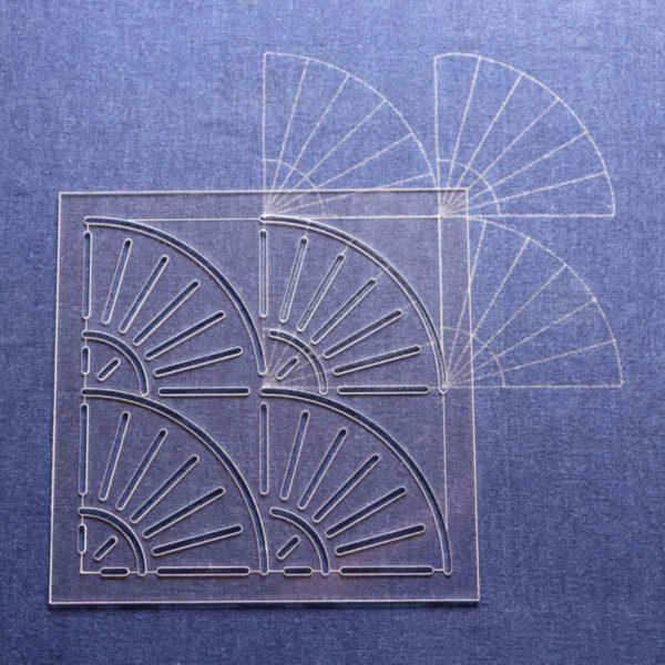 Japanese Embroidery Pattern Fan