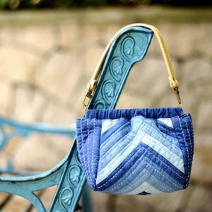 Log Cabin Indigo Handbag