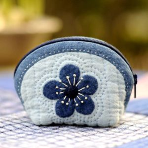 plum coin purse