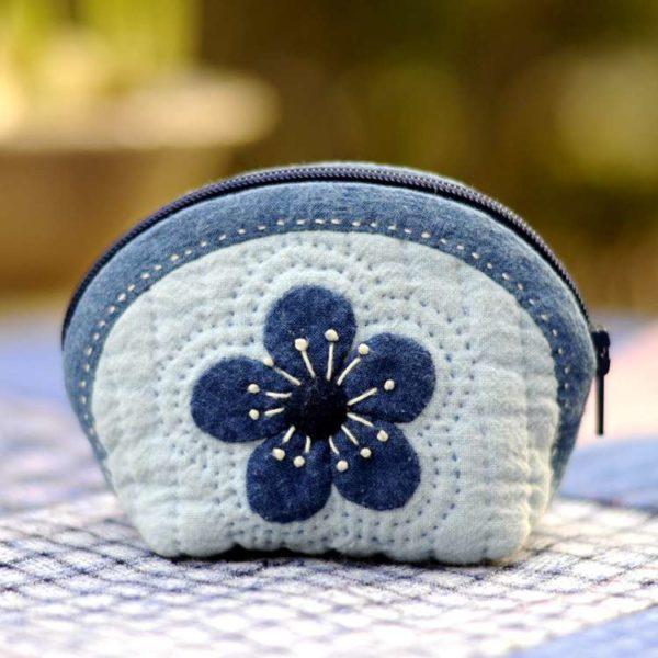plum coin purse