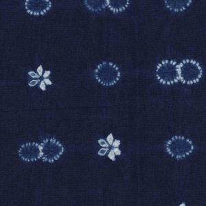 Hand Dyed Shibori Fabric Double ring
