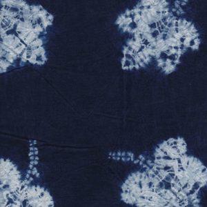 Hand Dyed Shibori Fabric Maple leaf