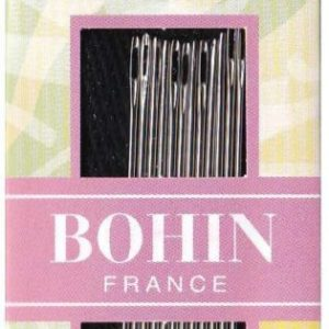 Bohin Crewel Embroidery Needles #7 These are fantastic needles to have while working on any sewing project Bohin needles are highly recommended by designers and instructors. Manufactured in France by skilled craftsmen, they are polished and honed for exceptionally smooth stitching. Fine point to minimize holes. Eye polished with a unique process to minimize breaking thread as well as maximum strength and minimum bending. Crewel Embroidery needles are of medium length with a long, oval eye and a sharp point. They are identical in length and thickness to Sharps but have a longer eye for easier threading with thicker embroidery threads. These are ideal for nearly all surface embroidery and smocking. This package contains fifteen needles #3