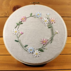 Embroidered Japanese Garden Flowers