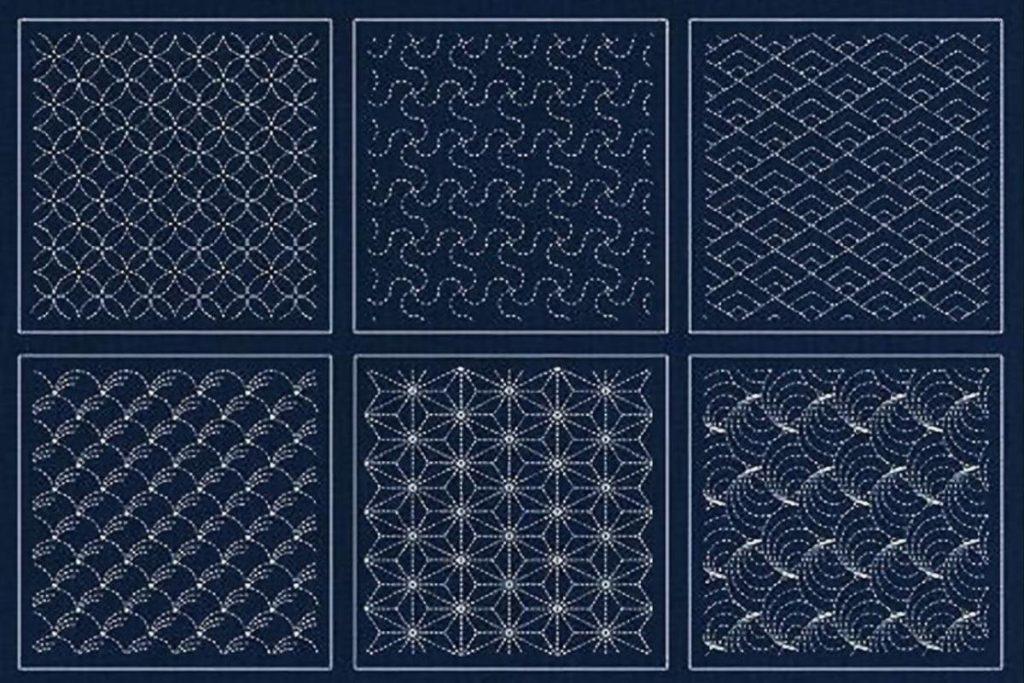Traditional Japanese Sashiko Pattern