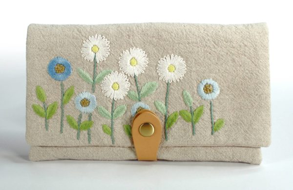 Floral Purse Embroidery Kit