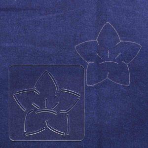 "Traditional Japanese Sashiko Pattern ""Bell Flower"""