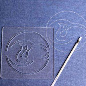 Sashiko Pattern Crane