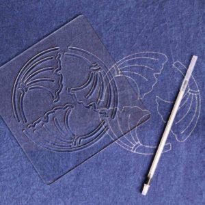 Sashiko Stencil Ginkgo Leaves