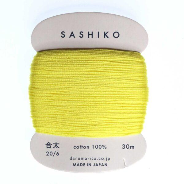 Daruma Sashiko Thread Card Yellow